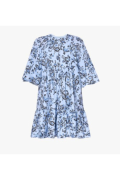 ERDEM 3/4 SLEEVE FLORAL POPLIN MINI DRESS - Alternate List Image