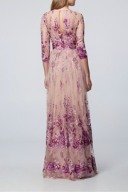 David Meister 3/4 Sleeve Gown - Front full body