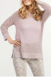 Tribal 3/4 sleeve lurex sweater - Product Mini Image