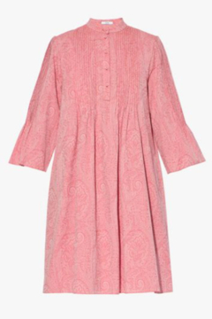 ERDEM 3/4 SLEEVE PAISLEY JACQUARD MINI DRESS - Alternate List Image