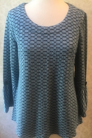 Habitat 3/4 sleeve pattern top - Front cropped