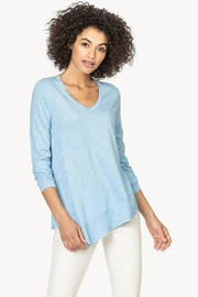 Lilla P 3/4 Sleeve Rib Hem Top - Product Mini Image