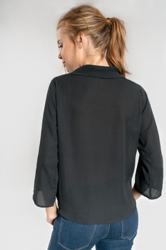 Everly 3/4-Sleeve Surplice Blouse - Alternate List Image