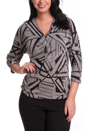 Bali 3/4 Sleeve Sweater Top - Product Mini Image
