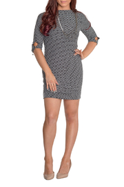 PAPILLON BLANC 3/4 Sleeve Textured Shift Dress - Product Mini Image