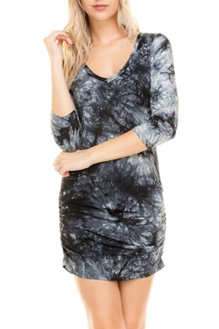 Shoptiques Product: 3/4-Sleeve Tie-Dye Dress
