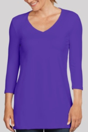 JudyP 3/4 Sleeve Tunic - COLORS - Product Mini Image