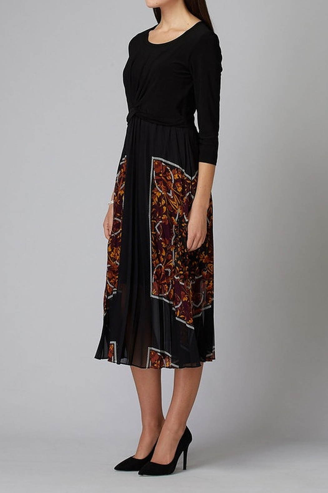 Joseph Ribkoff 3/4 Slv Midi Dress - Side Cropped Image