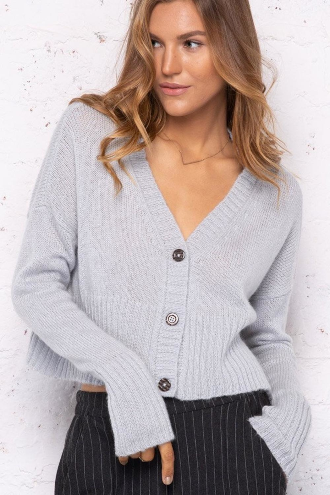 Wooden Ships 3 Button Cardigan - Front Full Image