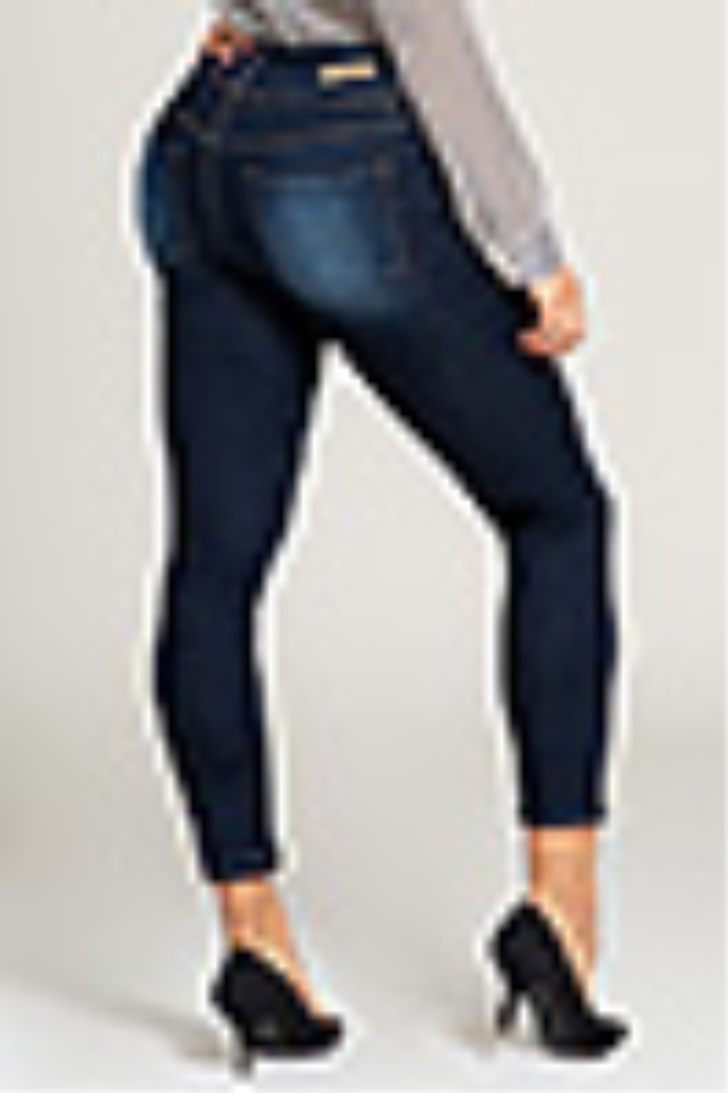Lyn-Maree's  3 Button Mid Rise Jean - Front Full Image