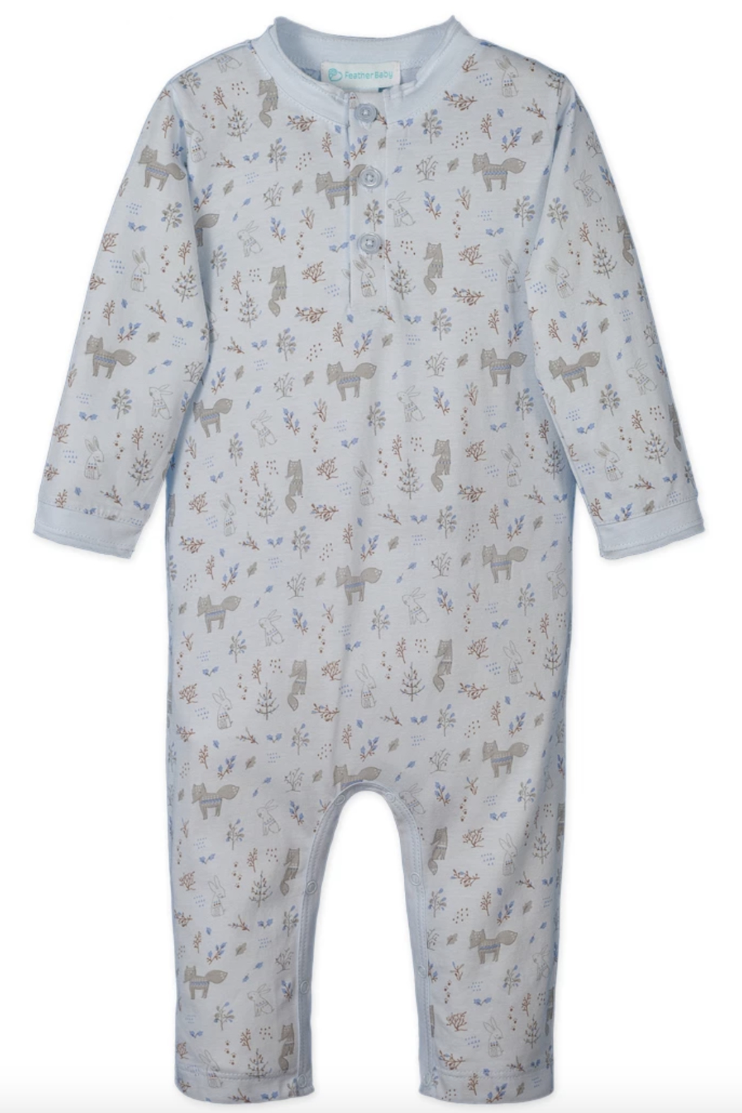 Feather Baby 3-Button Romper - Main Image