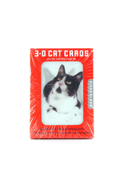 Kikkerland 3-D Cat Playing Cards - Front cropped