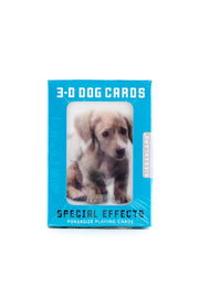 Kikkerland 3-D Dog Playing Cards - Front cropped