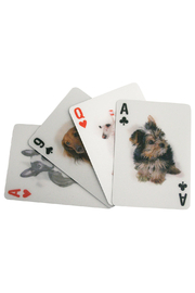 Kikkerland 3-D Dog Playing Cards - Front full body