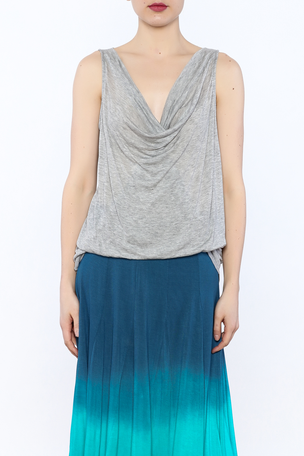 3 Dot Cowl Neck Tank Top - Side Cropped Image