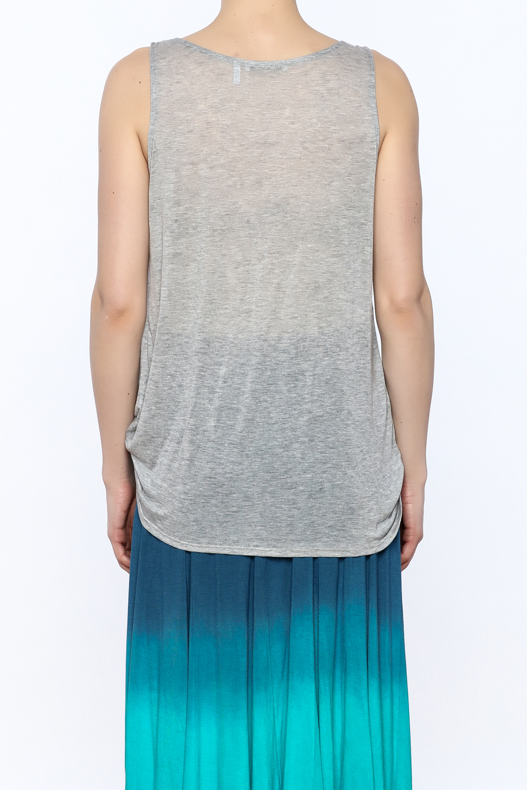 3 Dot Cowl Neck Tank Top - Back Cropped Image