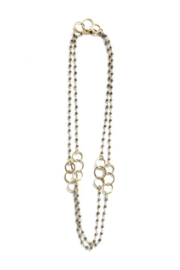 ERIN GREY 3 Hoops Beaded Pyrite Necklace - Product Mini Image
