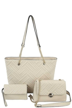 Shoptiques Product: 3-in-1 Tote, Mini Bag & Clutch Set