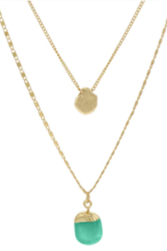 Accessoritzit 3 Layer Necklace w/ Charm - Alternate List Image