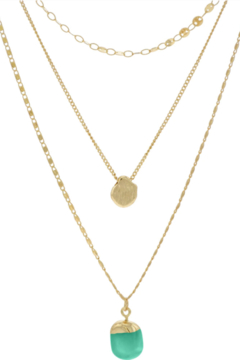 Accessoritzit 3 Layer Necklace w/ Charm - Product List Image