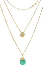 Accessoritzit 3 Layer Necklace w/ Charm - Product Mini Image