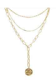 Maison A 3 Layer w/ Hammered Charm Necklace - Product Mini Image