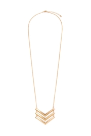 Riah Fashion 3-Line-Chained Chevron-Necklace - Product Mini Image