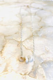 Maui Ocean Jewelry 3 Maui Puka Shell Necklace - Sterling Silver - Product Mini Image