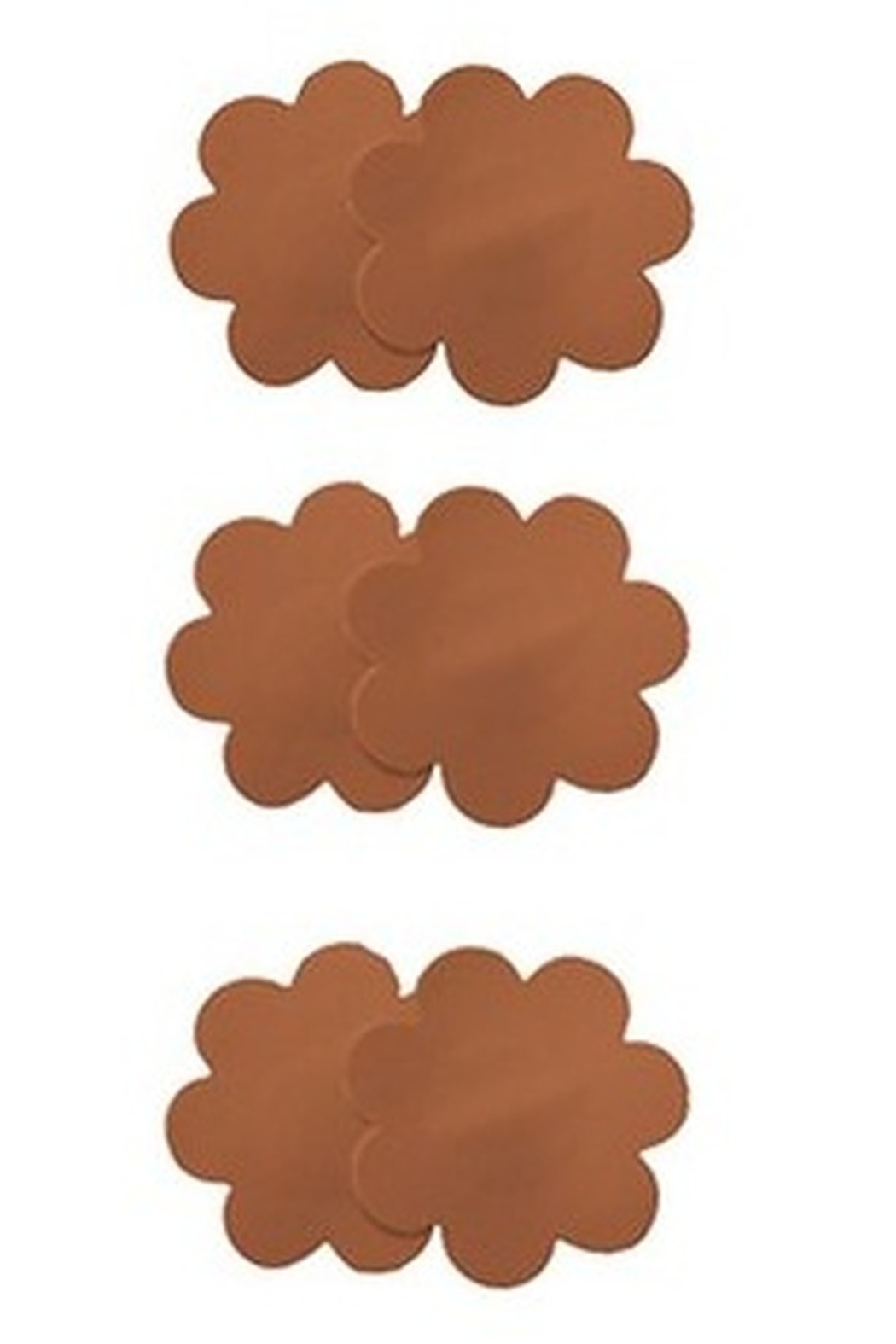 Magic Curves 3 Pack Disposable Pasties - Front Full Image