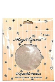 Magic Curves 3 Pack Disposable Pasties - Front full body