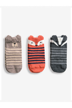JoJo Maman Bebe 3 Pack Woodland Animal Socks - Alternate List Image