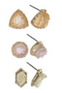 Back in Love 3 pairs of stone post neutral earrings - Alternate List Image