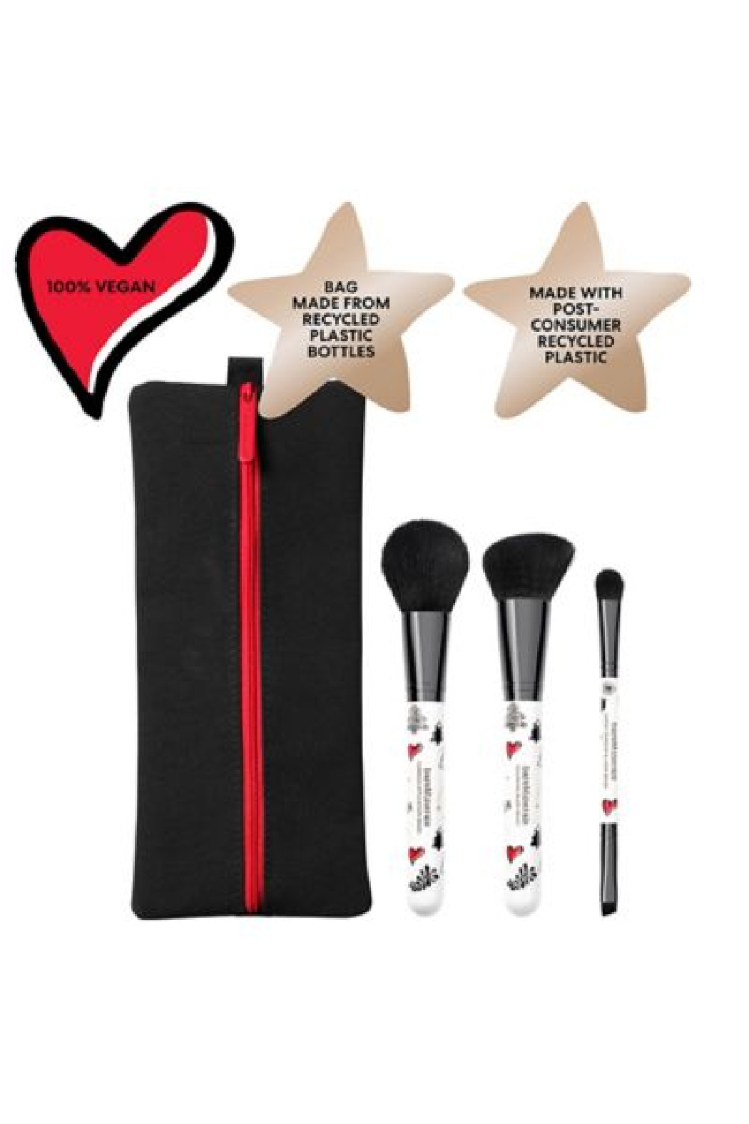 bareMinerals 3-PIECE BRUSH SET + BAG - Front Cropped Image