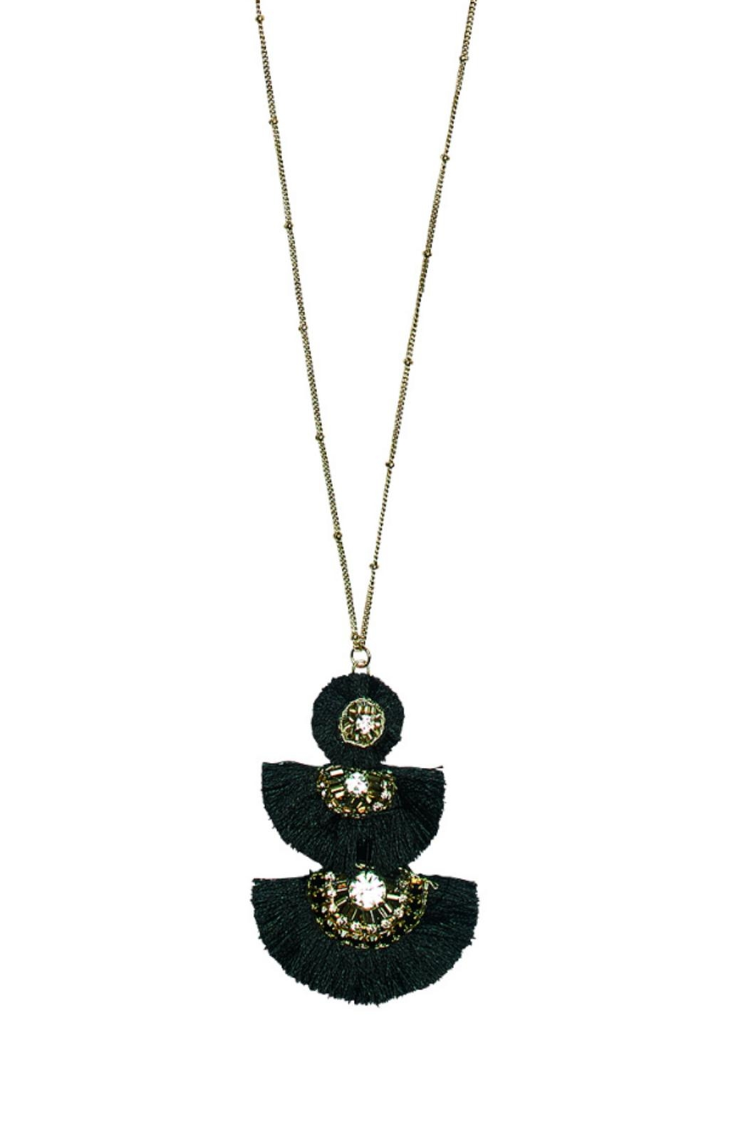 San Diego Hat Company 3-Tiered Fringe Necklace - Front Full Image