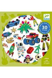 Djeco  30 Retro Toy Stickers - Front cropped