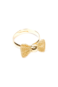 f_licie aussi Fishnet Bow Ring - Alternate List Image
