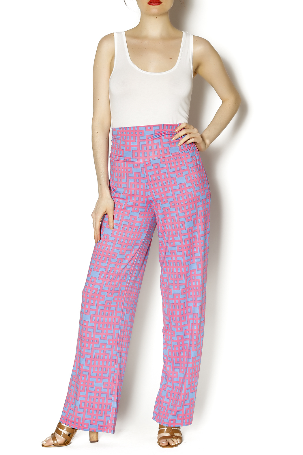 Mud Pie Harlow Palazzo Pants - Front Full Image