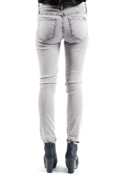 Acquaverde Colored Scarlett Skinny Jeans - Back cropped