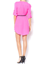 Shoptiques Product: Loose Belted Shirt Dress - Side cropped