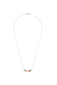 Shoptiques Product: Pearl And Turquoise Necklace