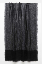 Kinross Cashmere LUREX SHAWL - Front cropped