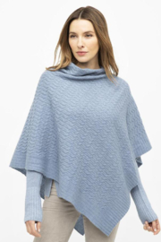 Kinross Cashmere CABLE PONCHO - Product Mini Image