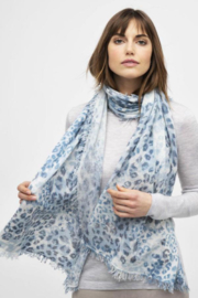 Kinross Cashmere LEOPARD SCARF - Product Mini Image