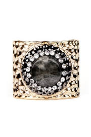 Whitley V PAVE TRIMMED LABRADORITE CUFF RING - Product Mini Image