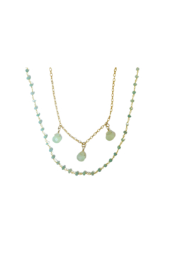 Whitley V AQUA CHALCEDONY NECKLACE - Product List Image