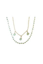 Whitley V AQUA CHALCEDONY NECKLACE - Product Mini Image