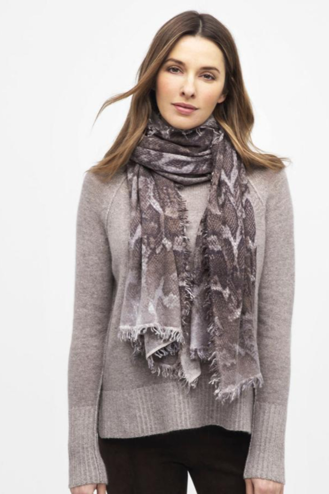 Kinross Cashmere PYTHON SCARF - Front Cropped Image