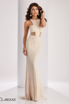 CLARISSE 3122 - Ivory/Nude Prom Gown - Product List Image