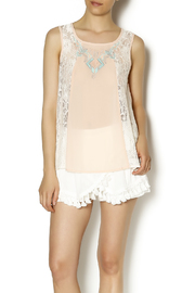 Blu Pepper Peach Embroidered Top - Product Mini Image