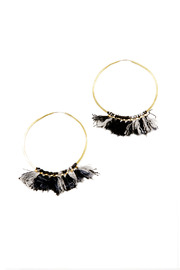 Paper Wings Fringe Hoops - Front cropped